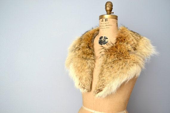 unisex Coyote wolf fur collar scarf shawl