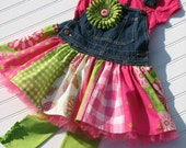 GYPSY overall jumper dress Custom ODOD size 2T thru 8