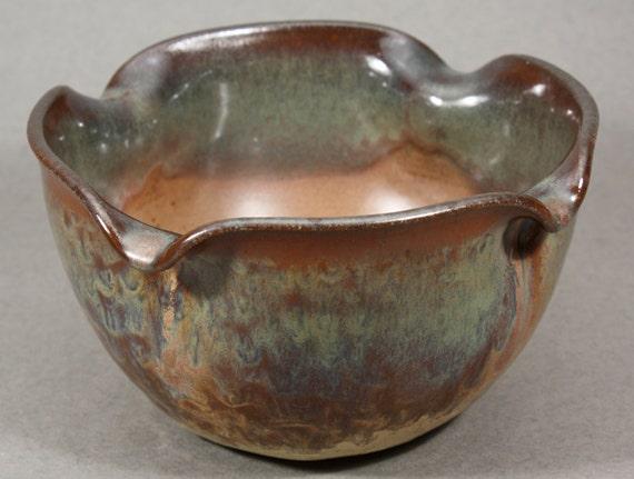 Ceramic Serving Bowl Earthtones