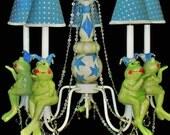 Kids Chandelier Lighting  -  Frog Nursery - Childrens Lighting