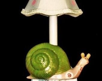 Nursery Sconce, Child Light, Garden Snail