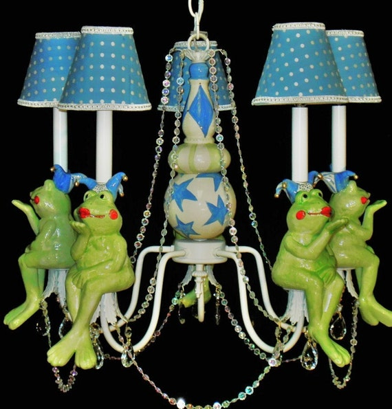 Kids Chandelier Lighting  -  Frog Nursery - Childrens Lighting