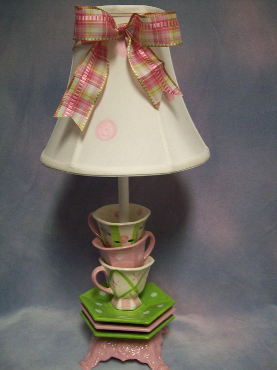 Whimsical Stacked Teacup Lamp By Whimsicalcollections On Etsy