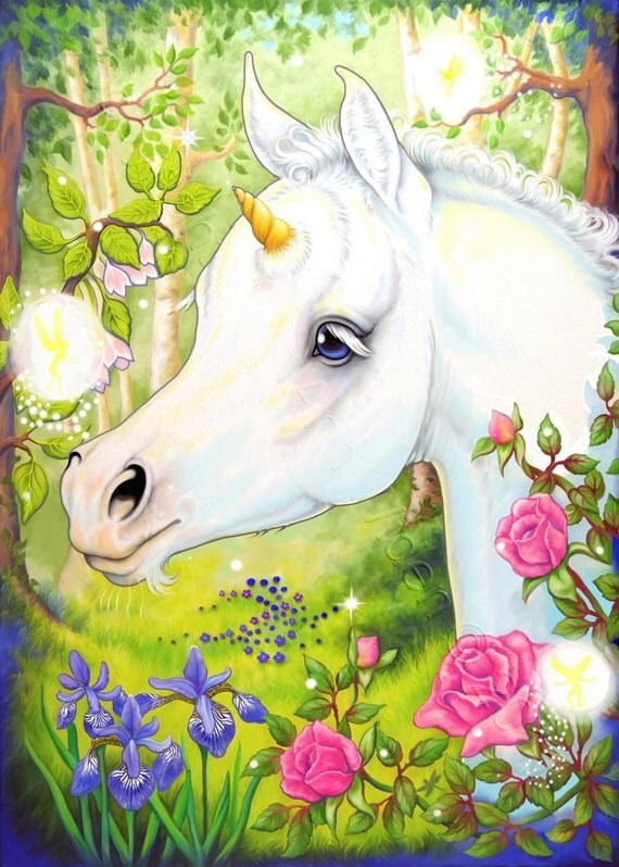 Unicorn ACEO Foal Horse Fairy Fantasy Limited Edition Fine Art Print