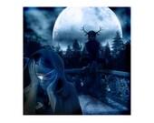 Beauty is the Beast & mat - original digital art - dark fantasy
