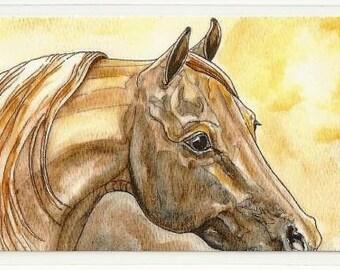 Saddlebred Horse Bookmark from Original watercolor Art