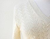 Vintage 80s Cuddle Knit Golden Cream Sweater