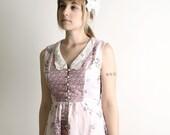 Darling Vintage Lavender Butterflies & Flowers Prairie Dress - Medium - Gunne Sax style