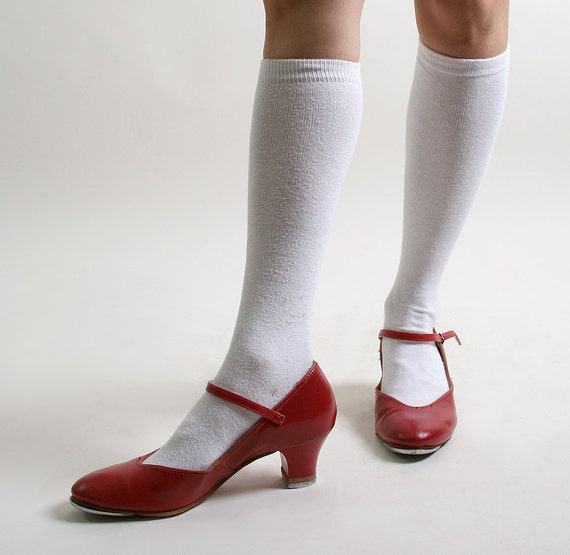 Vintage Tap Shoes Capezio Cherry Red Heels Size 6 1 2 By Zwzzy