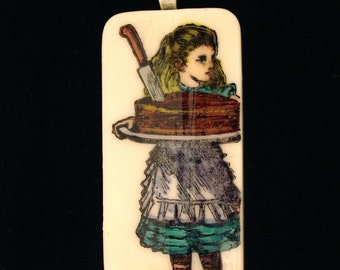 Alice with Cake pendant SALE