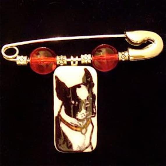 Boston Terrier Diaper Pin