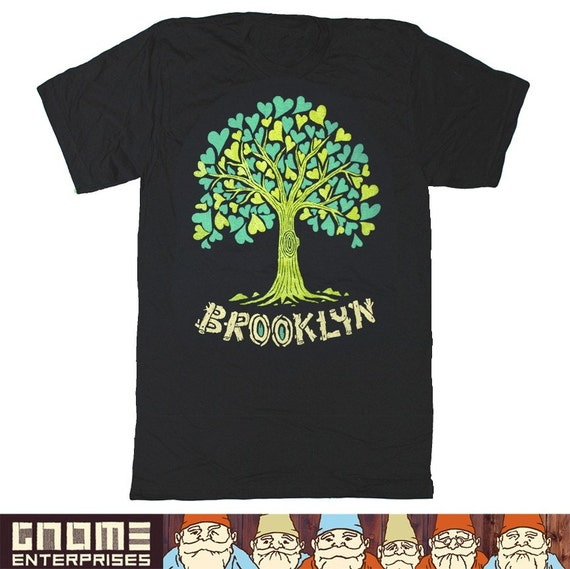 NEW / A Tree Grows in Brooklyn Tee / Gnome Enterprises / black / Unisex MD