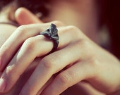 Black Silver Muscle Anomaly Ring 3