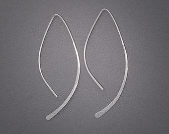 Silver Half Hoops