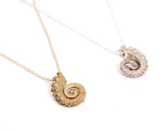 Bronze Tiny Tentacle Necklace