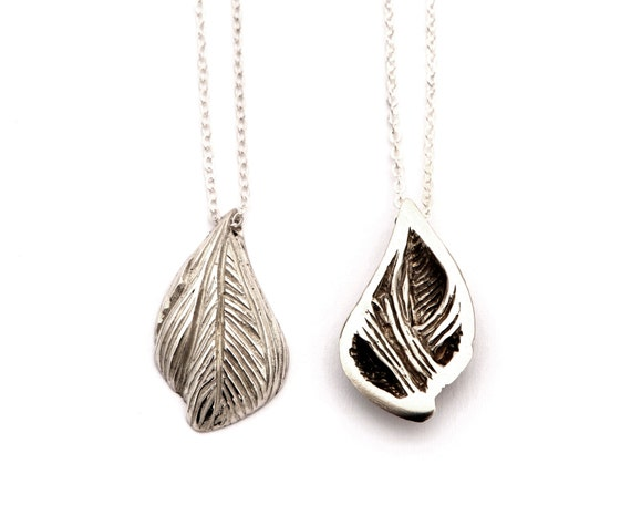 Sterling Silver Muscle Drop Pendant