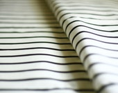 Black and White Striped Fabric Linen-Cotton Canvas Yardage Classic