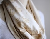 Organic Bikes Circle Scarf - Off White and Mustard Yellow