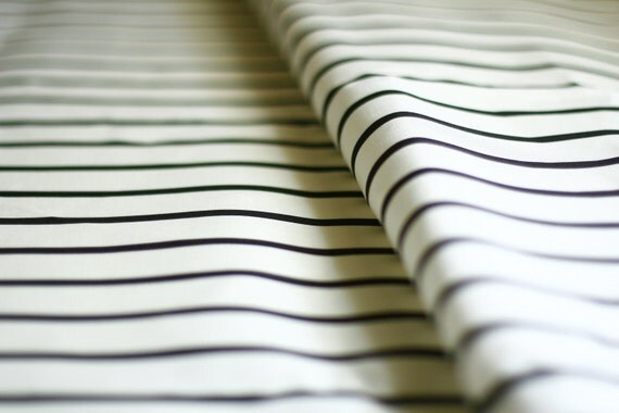 Black And White Striped Fabric Linen Cotton Canvas Yardage