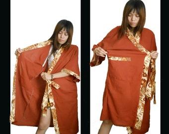 Cotta Cotton and Buterfly Batik Robe L - XL