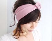 SALE LAST ONE Tie Up Headscarf Dusky Pink
