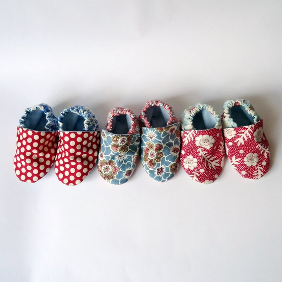 SALE Baby Booties Paisley and Floral