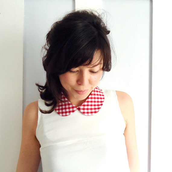 Peter Pan Collar Red Gingham