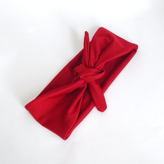 Tie Up Headscarf Red