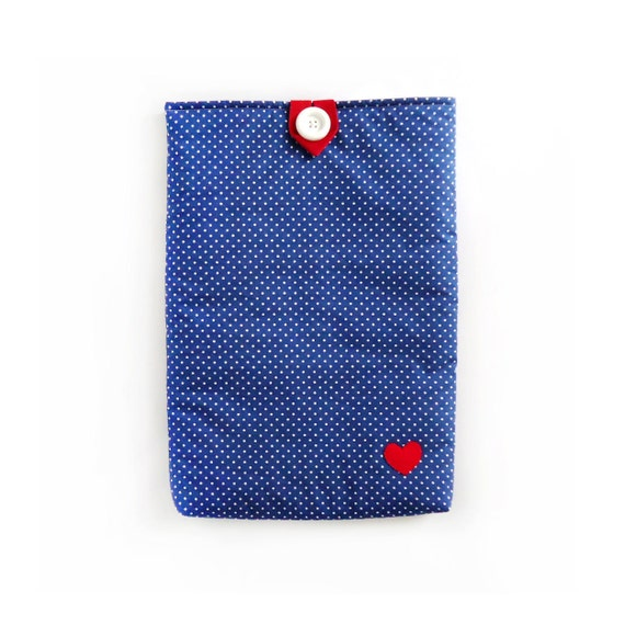 "SALE Padded 15"" MacBook Pro Laptop Sleeve Polka Dot"