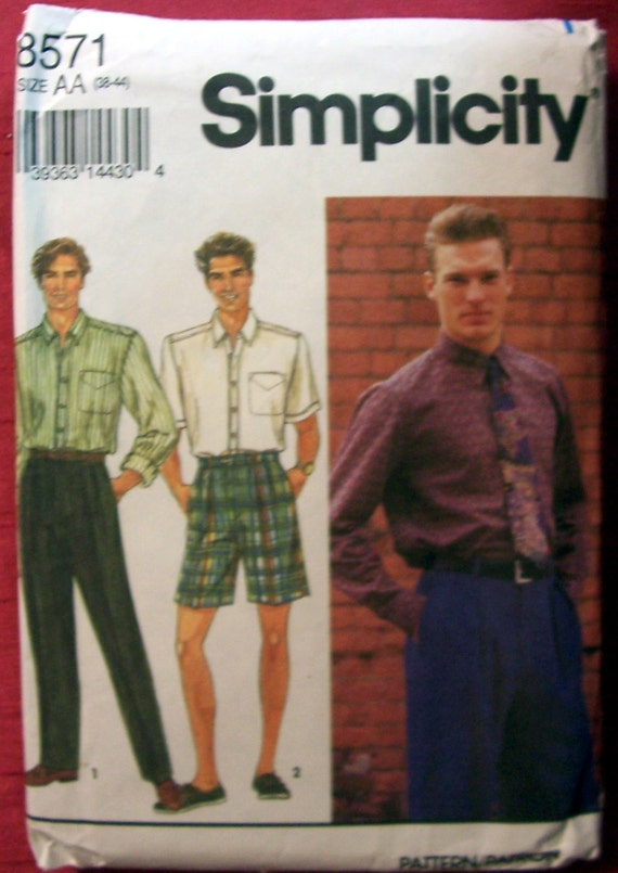 Simplicity 8571 Men's Pants, Shorts and Shirt