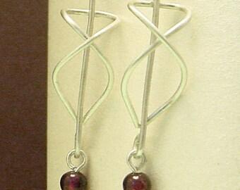 Garnet Fox Earrings