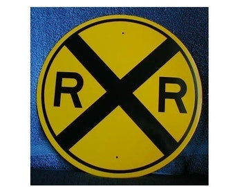 REFLECTIVE RAILROAD CROSSING sign for room decoration