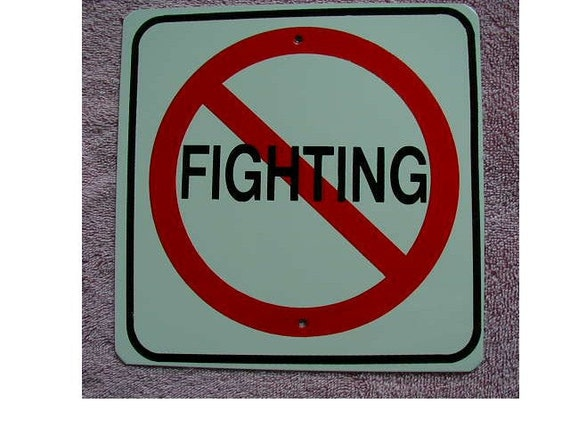 No Fighting Sign New Metal No Fighting ...