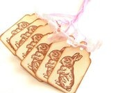 Vintage Inspired Blush Pink and Ivory Bunny Tags - Set of 6