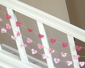 Hugs and Kisses Valentine Heart Garland - 3 yards - RESERVED For LSR