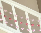 Lovely Hearts Valentine Heart Garland - 3 yards - LAST ONE