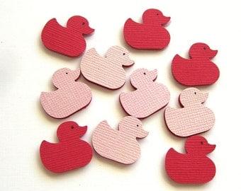 Cute Little Ducks - Set of 10 Scrapbook Embellishments - Valentine Edition