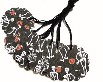 Skeleton Gift Tags - Set of 5 Tags