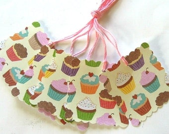 Dreaming of Cupcakes Gift Tags - Set of 5 Tags