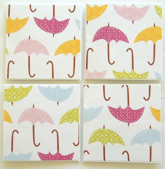 Raindrops Are Not Falling On My Head - Mini Note Cards - Set of 4