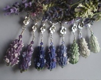 Bridal Party Lavender Necklace Wholesale Lot Handmade Glass Beads in Bloom - Set of 8