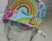 Tie Back Surgical Scrub Hat with Fun Fiesta