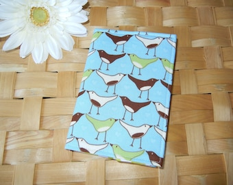CLEARANCE Fabric Passport Cover with Pretty Birds RTS