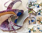 Wedding Shoes Peacock Sandals Custom Designed for you