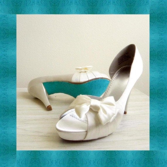 Items Similar To Wedding Shoes Painted Soles Tiffany Blue