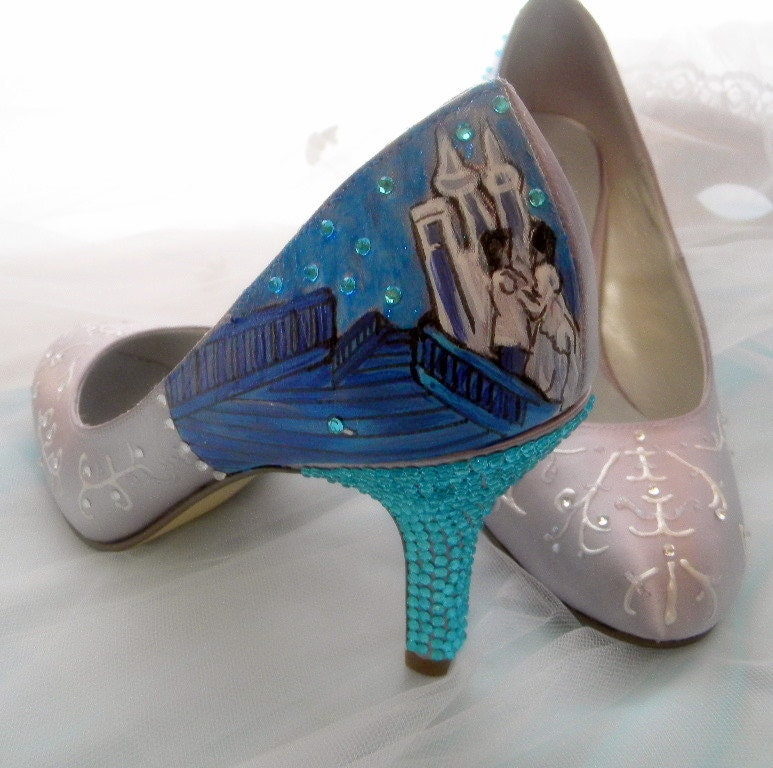 Wedding Shoes Fairy Tale Wedding Cinderella Glass By Norakaren