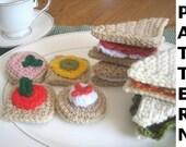 Play Food Crochet Pattern - Tea Sandwiches