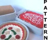 Play Food Crochet Pattern - Bake an Italian Meal