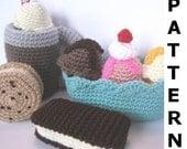 Play Food Crochet Pattern - Ice Cream Treats