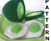 Play Food Crochet Pattern - Green Eggs and Ham
